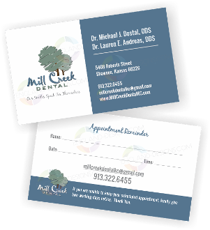 2500 appointment cards - Dental Appointment Cards